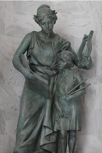 arts and education utah state capitol niche sculpture