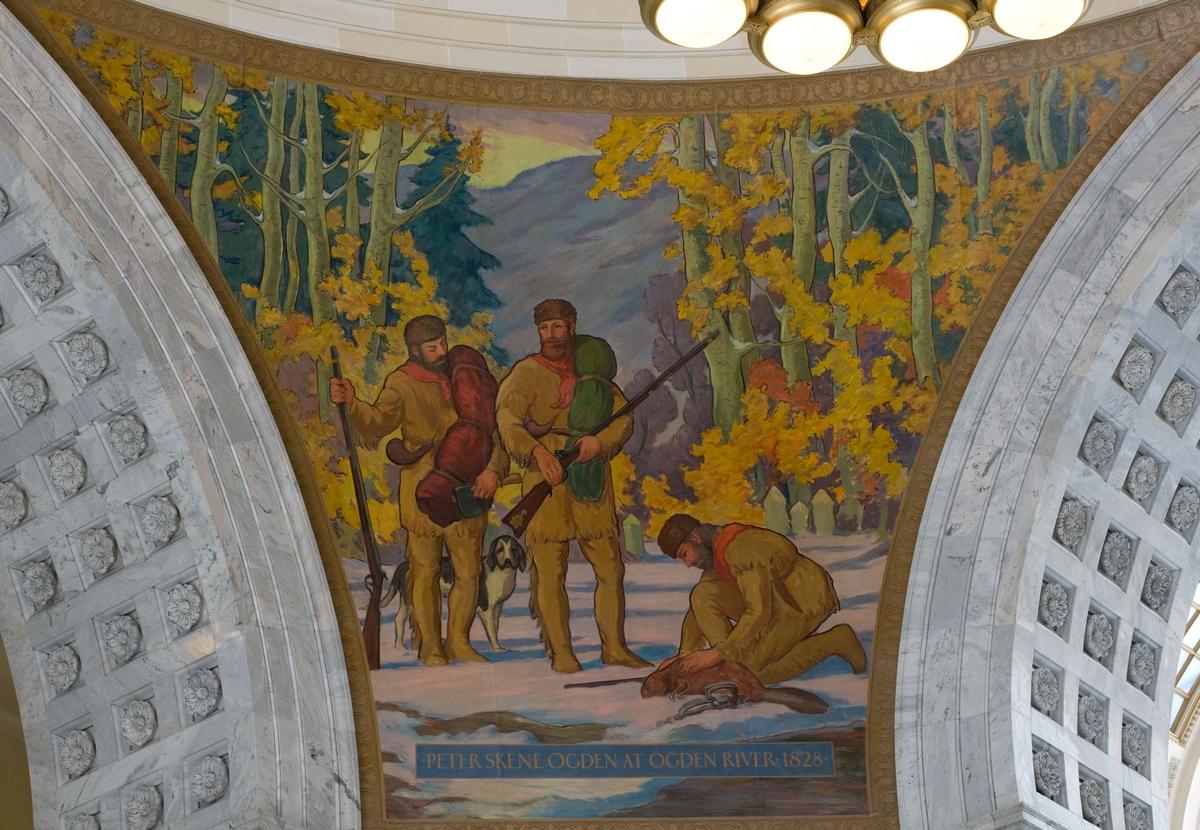 Utah State Capitol Rotunda mural