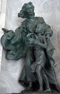 immigration and settlement Utah State Capitol niche sculpture