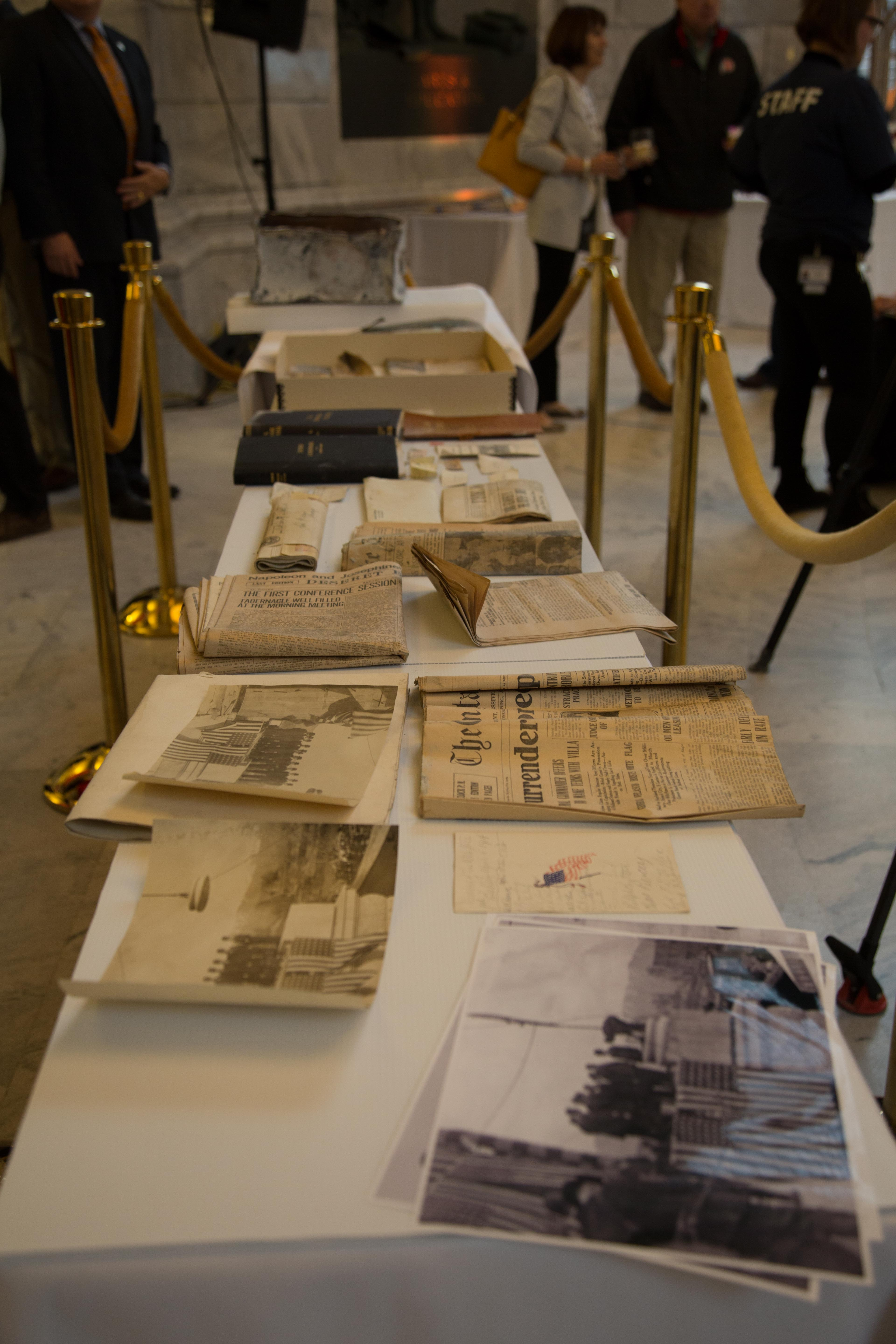 Time Capsule Contents close up