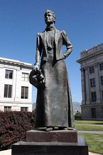 Utah State Capitol Martha Hughes Cannon sculpture