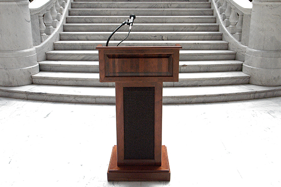 podium with mic rental utah state capitol
