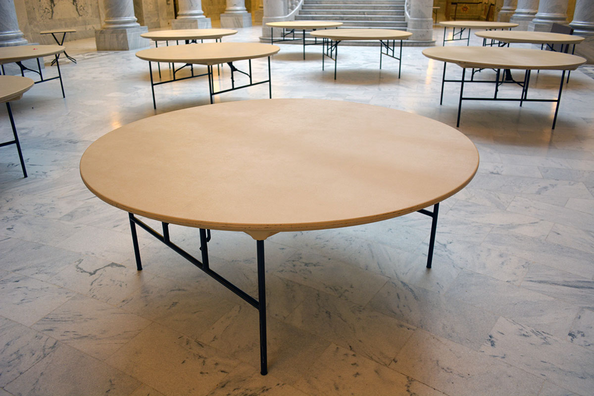 round tables rental utah state capitol